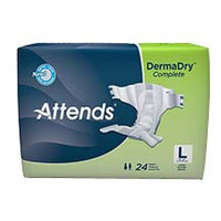 "Attends DermaDry Complete Briefs Large 44"" - 58""  48DDC30-Pack(age)"