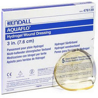 "Dermacea Aquaflo Hydrogel Wound Dressing Disc 4-3/4""  61476154-Box"