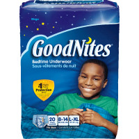 Goodnites Youth Pants for Boys Large/X-Large, Mega Pack  6930713-Pack(age)
