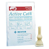 Active Cath Latex Self-Adhering Male External Catheter with Watertight Adhesive Seal, 35 mm  768500-Each