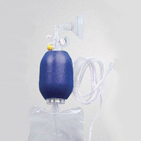 Infant Resuscitation Device with Mask and Expandable, Variable Volume Oxygen Reservoir Tubing  552K8019-Case