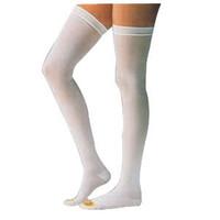 Anti-Embolism Thigh-High Seamless Elastic Stockings Medium Long, White  BI111456-Each