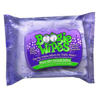 Boogie Wipes Saline Nose Wipes Grape Scent  BOO897752002082-Pack(age)