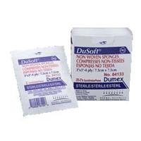 """Dusoft Sterile Non-Woven Sponge 3 x 3"""", 4-Ply  DE84133-Pack(age)"""""""