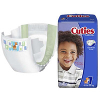 Cuties Baby Diapers, Size 7, 41+ lbs  FQCRD701-Pack(age)