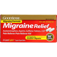 Migraine Relief Coated Caplet (24 Count)  GDDLP14581-Box