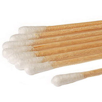 Sterile Cotton-Tip Applicator with Wood Handle 6  HA258062WCHOSPI-Pack(age)""