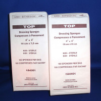 """TOP Sponge, Sterile 2's, Gauze Cover with Cellulose Fill, 4 x 3""""  IRA0234-Pack(age)"""""""