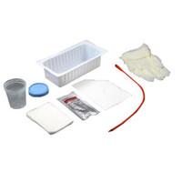 Red Rubber Urethral Catheter Tray 14 Fr  MKAS87114-Each