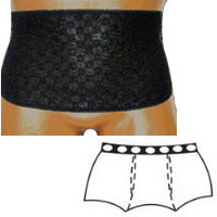 """OPTIONS Ladies' Brief with Open Crotch and Built-In Barrier/Support, Black, Center Stoma, Large 8-9, Hips 41"""" - 45""""  8083002LC-Each"""