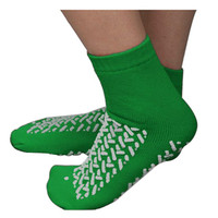 Double Tread Patient Safety Footwear with Terrycloth Interior, 2X-Large, Green  PH68125GRN-Pack(age)