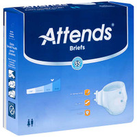 """Attends Adult Extra Absorbent Breathable Brief Small 25"""" - 34""""  48BRBX15-Case"""