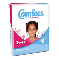 Comfees Girl Training Pants - Size 3T-4T  48CMFG3-Case