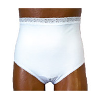 Ladies Split Crotch Ostomy Support Panty White, 2X-Large, Size 14, Left  8081204XXLL-Each