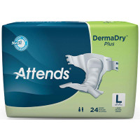 "Attends DermaDry Plus Briefs Large 44"" - 58""  48DDP30-Pack(age)"