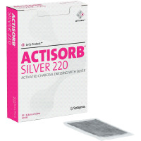 "ACTISORB Silver Antimicrobial Dressing 2-1/2"" x 3-3/4""  53650220-Each"