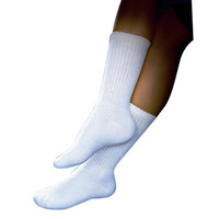 SensiFoot Knee-High Mild Compression Diabetic Sock, Small, White  BI110831-Each