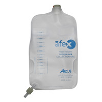 Afex Collection Bag, Direct Connect, 1000ml, Extra Capacity, Non-Vented  ARSA400E-Case