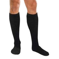 Core-Spun by Therafirm Moderate Support Socks, 20-30 mmHg Compression, Unisex, Black, XXL  TG18752-Each
