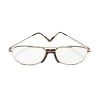 Today's Optical Half Eye Reading Glass +2.50 Power, Metal Frame. Gold  TOD036F-Case