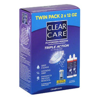 Clear Care Cleaning and Disinfection Contact Solution, 2 x 12 oz.  ALC10059412-Pack(age)