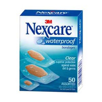 Nexcare Waterproof Bandage Assorted, Clear  8843250-Box