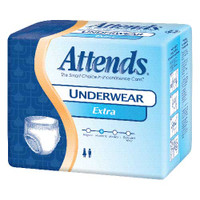 """Attends Adult Extra Absorbency Protective Underwear Large 44"""" - 58""""  48AP0730100-Case"""