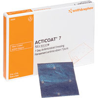 "ACTICOAT Seven Day Antimicrobial Barrier Dressing 4"" x 5""  5420141-Each"
