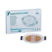 """Tegaderm Hydrocolloid Dressing with Outer Clear Adhesive 6-3/4"""" x 8"""" Oval  8890004-Each"""