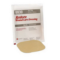 "Restore Hydrocolloid Dressing with Foam Backing, 8"" x 8""  50519935-Each"