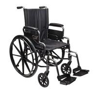 "Traveler L4 Folding Wheelchair with Elevating Legrest, 18"" x 16"" Seat  LS3F020130-Case"