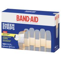 """Band-Aid Adhesive Sheer Strip Bandage 3/4"""" x 3""""  534634-Box"""