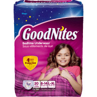 Goodnites Youth Pants for Girls Large/X-Large, Mega Pack  6930714-Pack(age)