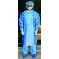 Chemotherapy Gown  Poly-Coated  X-Large  Blue  558201CG-Pack(age)