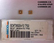 SCMT 21.51 TP22 Seco Carboloy Carbide Turning Insert