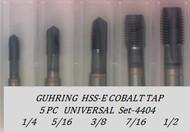 5PC NC Spiral Point Tap Universal Set-4404 GUHRING