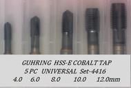 5PC NC Metric Spiral Point Tap Universal Set-4416 GUHRING