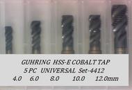 5PC NC Metric Spiral Flute Tap Universal Set-4412 GUHRING