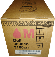 DELL IMPRESORA 3010 TONER ORIGINAL MAGENTA (2K PGS) NEW DELL TH209,  XH005, 341-3570, A7247609