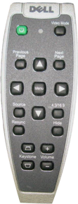 DELL 1100MP, 1200MP, 1201MP, 2100MP, 2200MP, 2300MP  LCD PROJECTOR REMOTE CONTROL/CONTROL REMOTO REFURBISHED DELL SRC-TM2