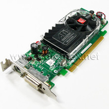 DELL ATI RADEON HD3450, 256MB LOW PROFILE VIDEO CARD , DMS-59 TO VGA CABLE  INSTALLATION CD, DELL REFURBISHED,   Y103D