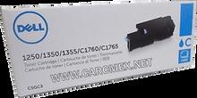 DELL Impresora 1250, 1350, 1355, C1760, C1765  Toner Original CYAN 1,400 PGS Alta Capacidad NEW DELL 79K5P, C5GC3, 332-0410, PDVTW, FYFKF, 331-0777