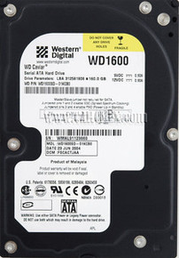 DELL Hard Drive Western Digital 160GB@7.2K RPM SATA-150 3.5 IN REFURBISHED DELL WD1600SD, WD1602ABKS