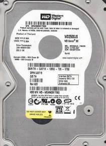 DELL POWEREDGE 1950, 2950 DISCO DURO WESTERN DIGITAL 250GB@7.2K SATA 3.5 INCHES RPM SIN CHAROLA  REFURBISHED DELL WD2500JS-75NCB3