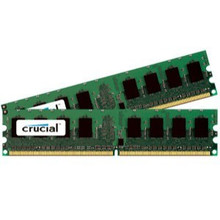 CRUCIAL 2GB KIT (2 X 1GB) PC2-5300 DDR2-667MHZ NON-ECC UNBUFFERED CL5 240-PIN DIMM MEMORY FOR DELL VOSTRO 200 SLIM TOWER DESKTOP NEW MFR P/N CT705845
