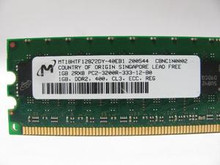 DELL SERVER MEMORIA MICRON (PC-3200)240PIN DDR2 400 1GB ECC REG 2RX8 REFURBISHED DELL MT18HTF12872DY-40EA1