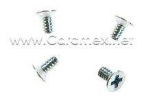 DELL SCREW, 6-32X1/ 4, FLAT HEAD, ZINC PLATED STEEL, COUNTERSINK/ (4) TORNILLOS ESTRELLA PARA CHAROLAS DELL REFURBISHED  (4 PACK) FOR DELL COMPUTERS REFURBISHED  DELL  1213C