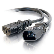 DELL POWEREDGE CABLE PARA RACK : POWER CORD C13 TO C14, PDU STYLE, 12 AMPS, ( 2 FT)  MEDIO METRO NEW DELL 212A13F