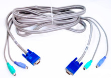COMPAQ  KMM CONSOLE CABLE WITH LINKING CONNECTOR 12 FOOT / CABLE PARA CONSOLA  REFURBISHED P/N: 147095-001