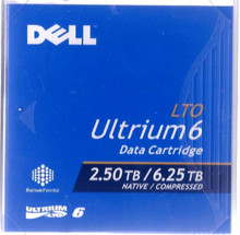 DELL TAPE MEDIA LTO-6 UTRIUM 2.5TB/ 6.25 TB CAPACITY 1 PACK / CARTUCHO DE RESPALDO NEW DELL 342-5457, FH851, 342-5450, 3W22T
